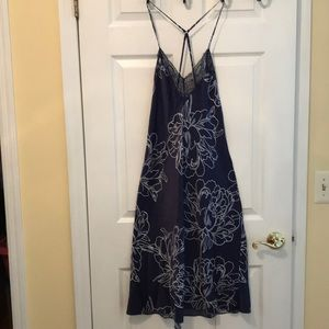 In bloom navy floral nightgown